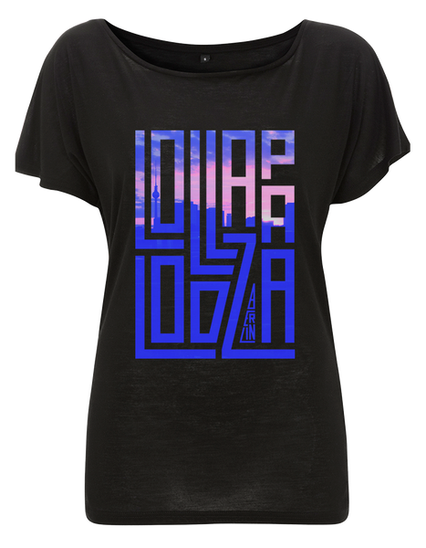'Lolla Block' - Black Ladies T-Shirt