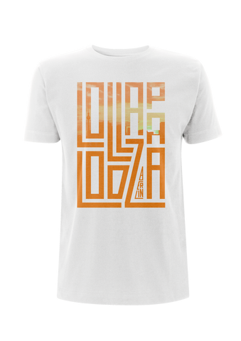 'Lolla Block' - White T-Shirt