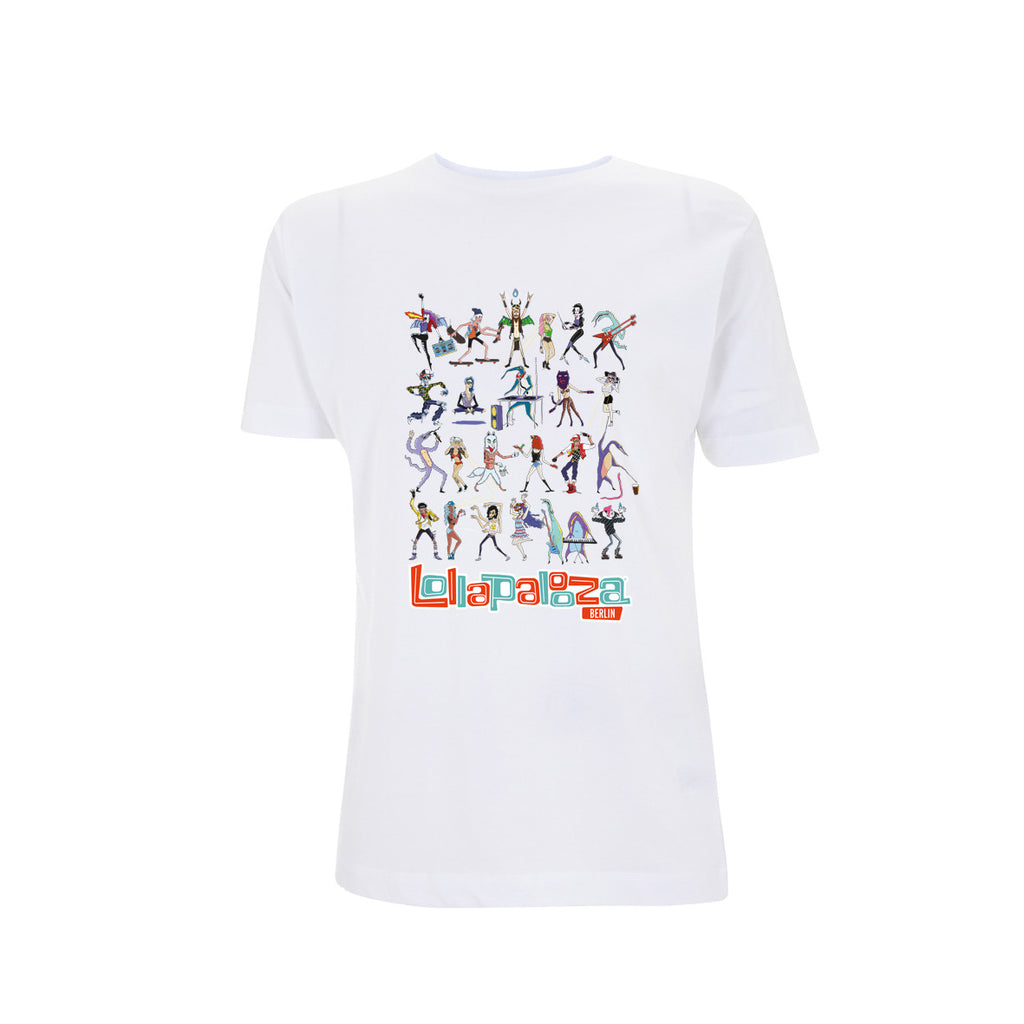 Characters Grid Men's White Tee -