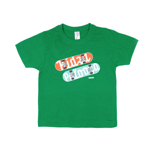 Kidz Skateboard-Shirt Green