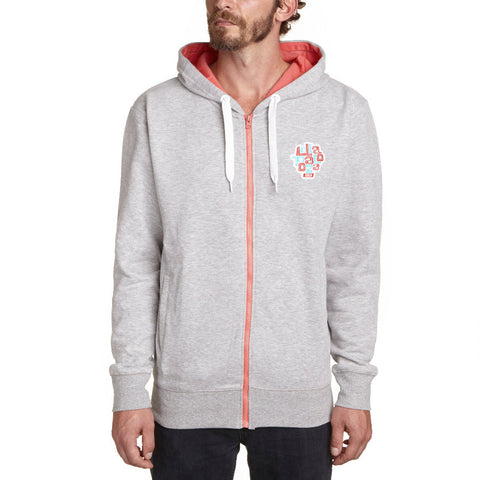 Logo Zipper Heather Grey