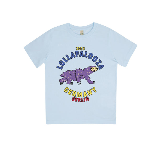 Sloth Blue Kids Tee -