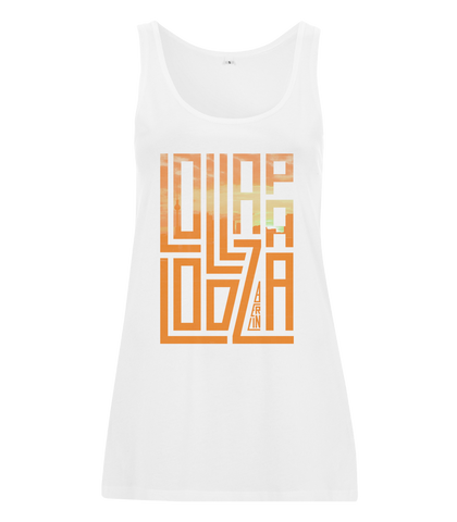 'Lolla Block' - White Female Vest