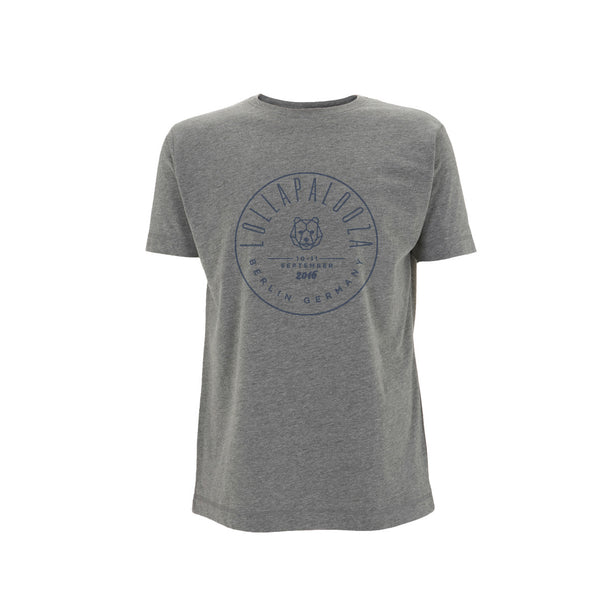 Circle Stamp Men's Melange Grey Tee -