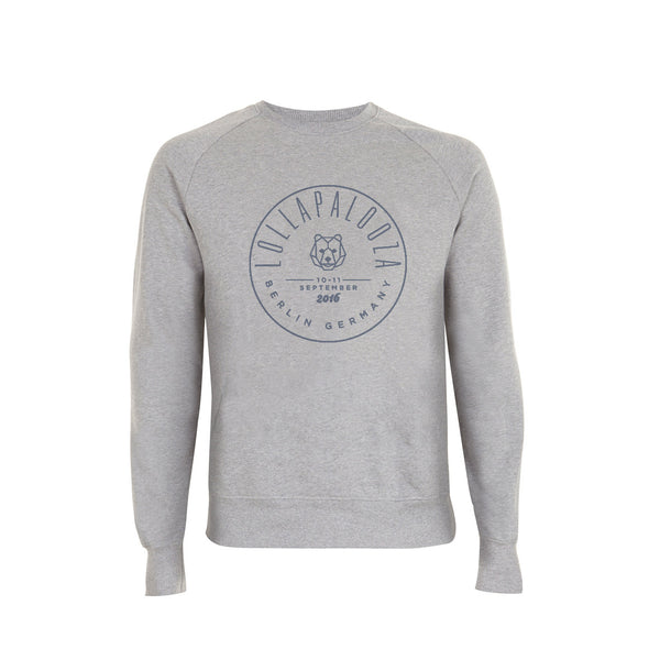 Circle Stamp Melange Grey Sweatshirt -