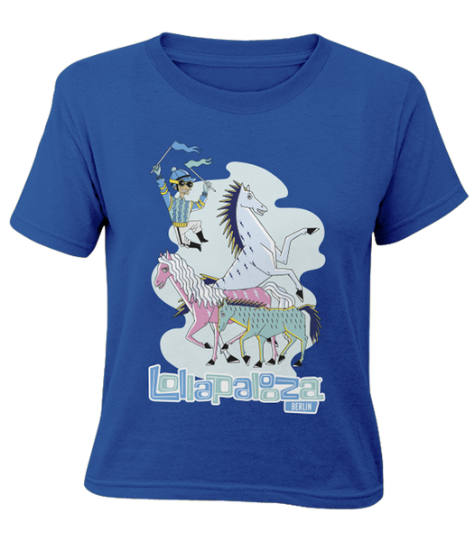 'Horses 2017' - Bright Blue Youth T-Shirt