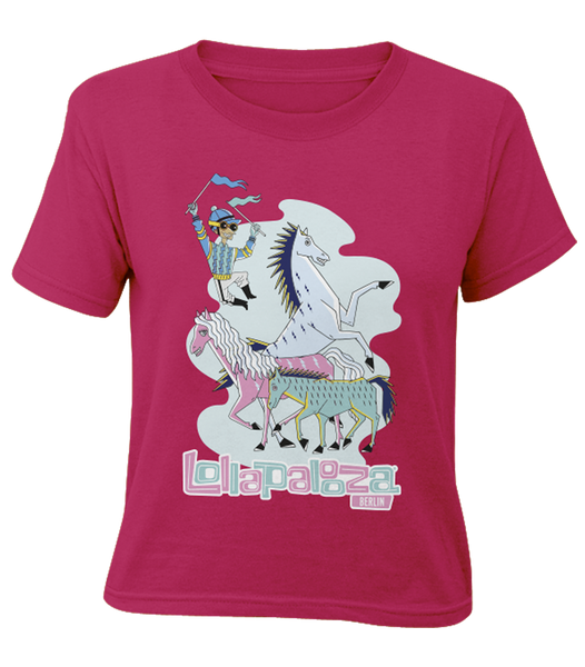 'Horses 2017' - Hot Pink Youth T-Shirt