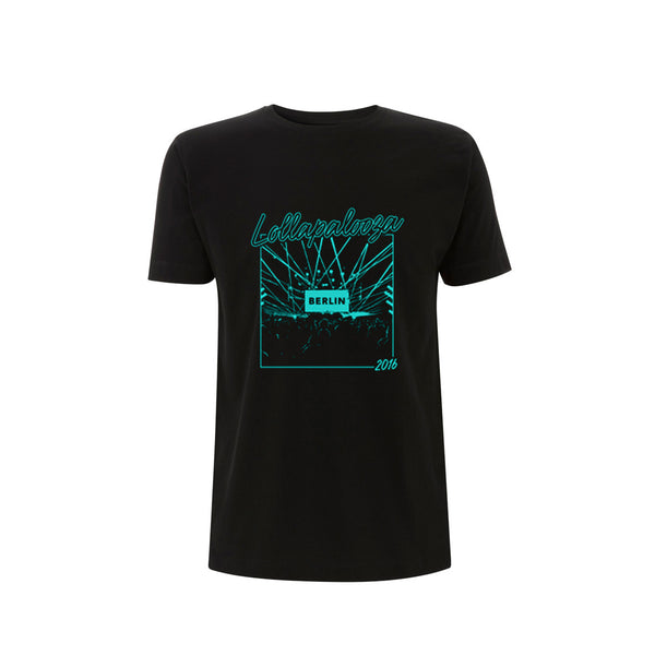 Photo Block Men's Black Tee -