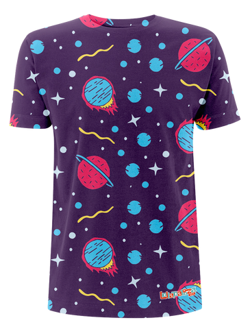 'Planets' All Over Print T-Shirt