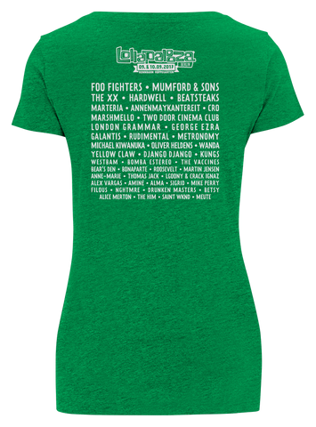 'Logo Event 2017' - Melange Green Female T-Shirt