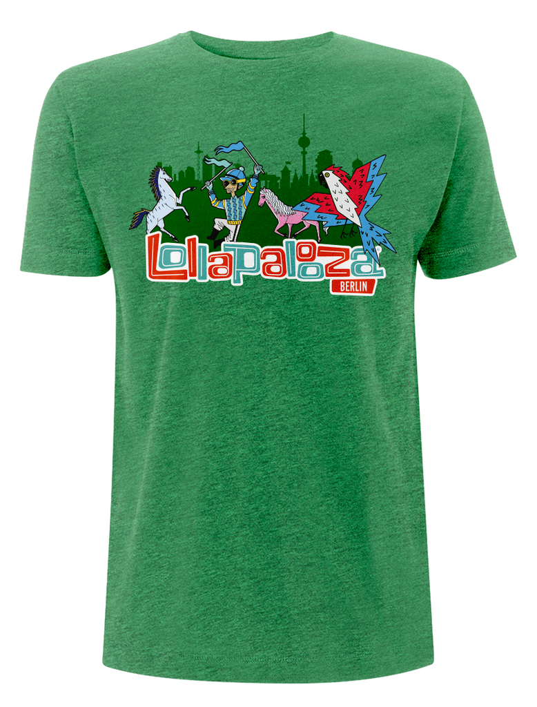 'Logo Event 2017' - Melange Green T-Shirt