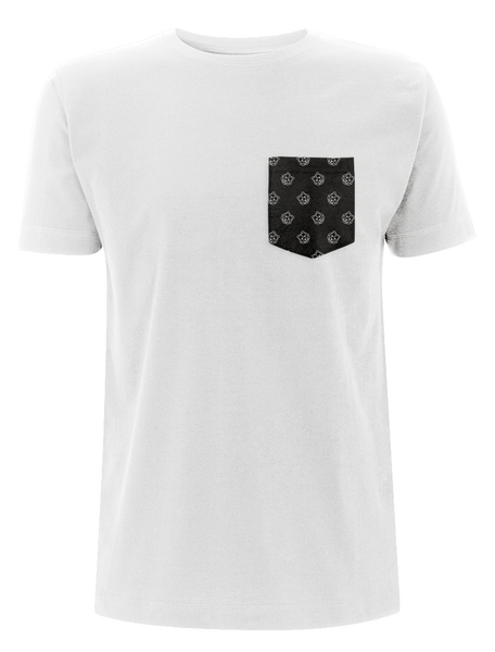 'Bear' Pocket Print White T-Shirt