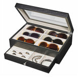 Stylish Eyeglass/Sunglass Storage Box with Jewellery Drawer