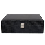 Top Quality Black Leather watch Ring Storage Box Organizer
