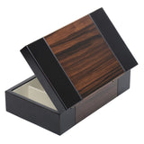 BELA Dark wood Valet Travel Case Jewelry Organizer Storage Box