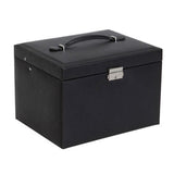 Faux Leather Jewelry Box / Travel Case and Front Locking Case