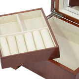 Top Quality Wood Finish Valet Jewelry Box & Organizer Storage Case