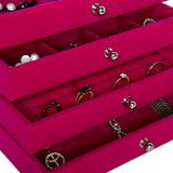 Arolly Four-layer Acrylic Display case With Velvet Jewelry Display Tray - DORA