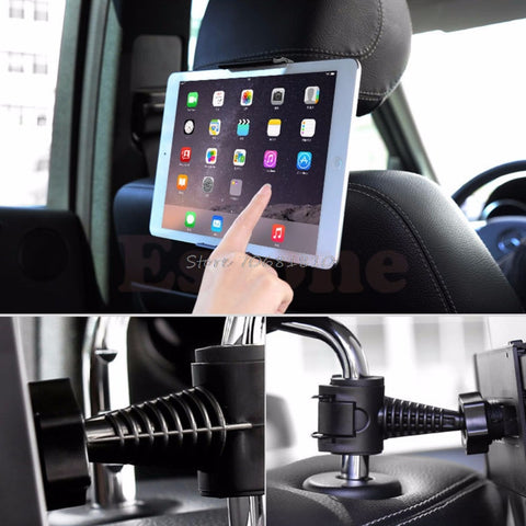 360 Degree Car Back Seat Headrest Mount Holder for iPad mini/1/2/3/4/Air Galaxy Tablet #R179T# Drop shipping