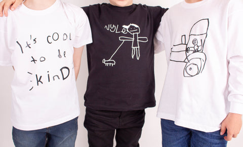 TOTO & FIFI prints designed by kids - have your childs drawing printed onto a top