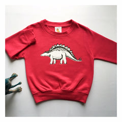 TOTO & FIFI - unisex dinosaur top - hot pink - pink is for boys too