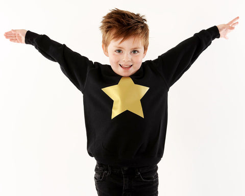 TOTO & FIFI - unisex kids gold star top - The Mamahood Festive Pop Up