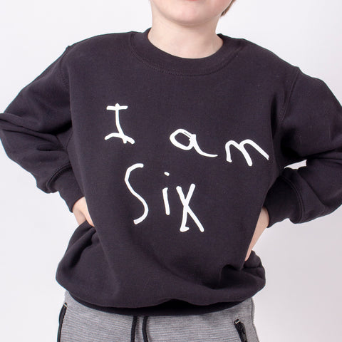 TOTO & FIFI - unisex kids personalised birthday sweater with childs handwriting