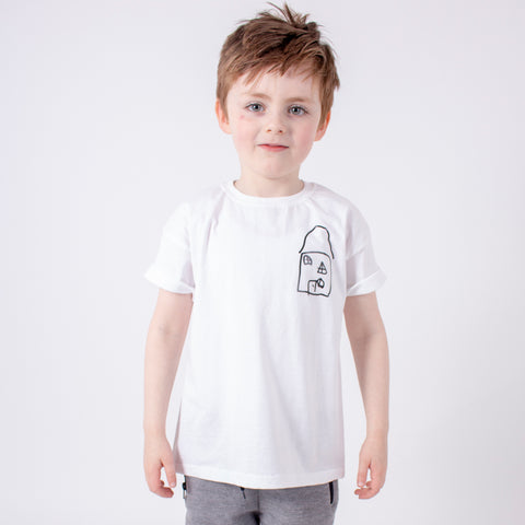 Personalised little drawing t-shirt with kids art