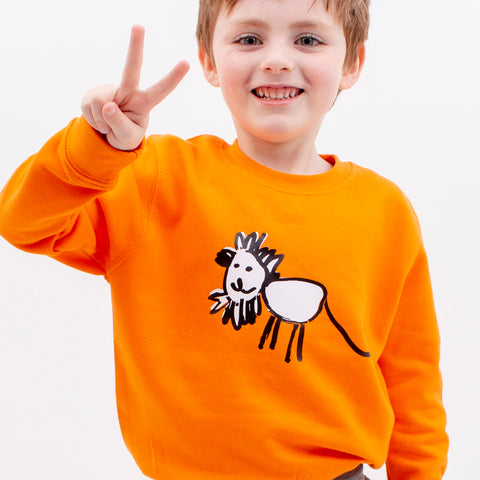 TOTO & FIFI unisex kids sweater using childrens drawings