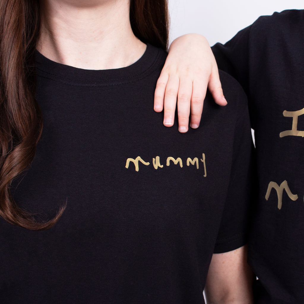 Mummy tshirt printed with childs handwriting