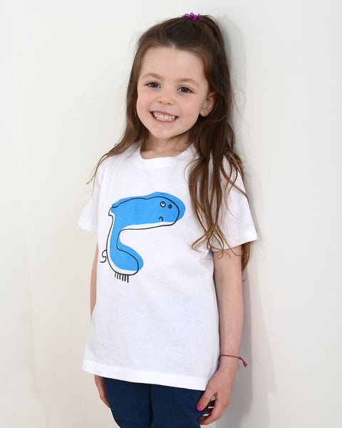 "TOTO & FIFI - Blue ""Shark"" unisex kids t-shirt, ages 1-6 years"