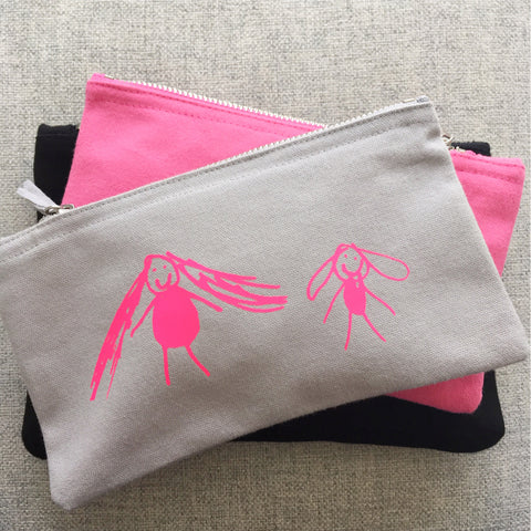 Small Personalised Purse with Kids Drawing