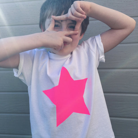 BIG STAR t-shirt - can be personalised with kids drawing