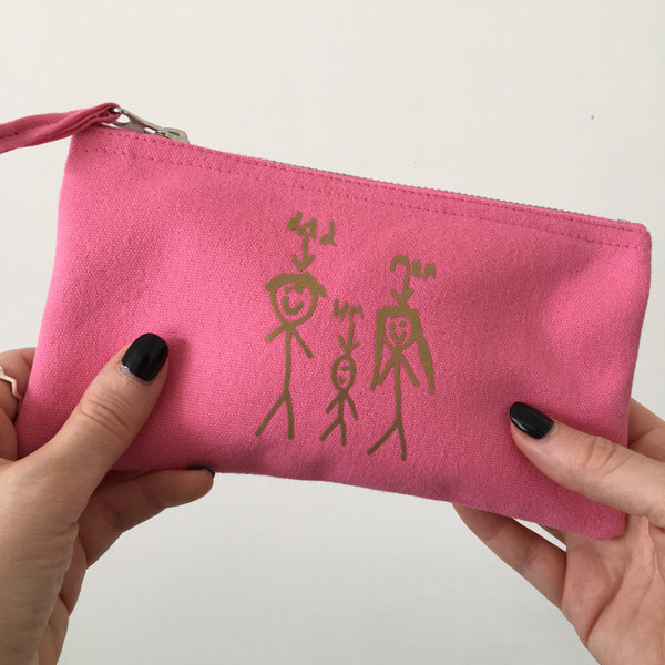 Teacher Personalised Purse with Kids Drawing