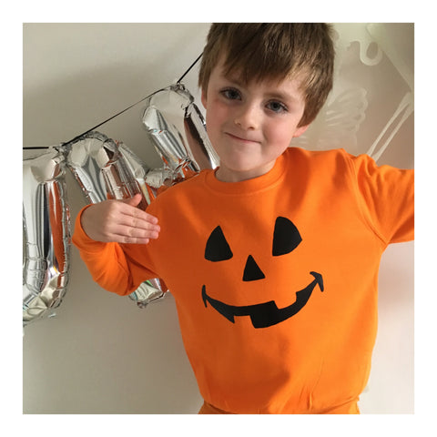 PUMPKIN HEAD unisex kids Halloween sweater