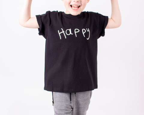 TOTO & FIFI  - unisex kids clothes - designed by kids for kids - kids hand drawn printHAPPY