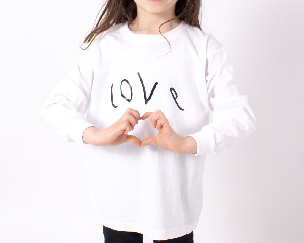 TOTO & FIFI  - unisex kids clothes - designed by kids for kids - kids hand drawn print LOVE