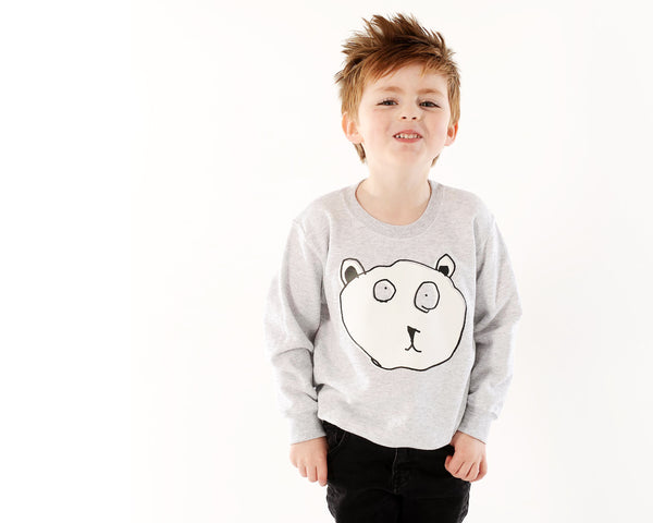 TOTO & FIFI  - unisex kids fashion - designed by kids - hand printed - kids drawing sweater