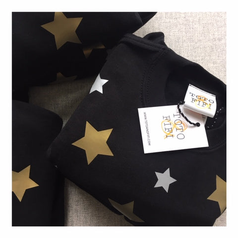 Unisex GROWN-UP Silver and Gold Star sweater