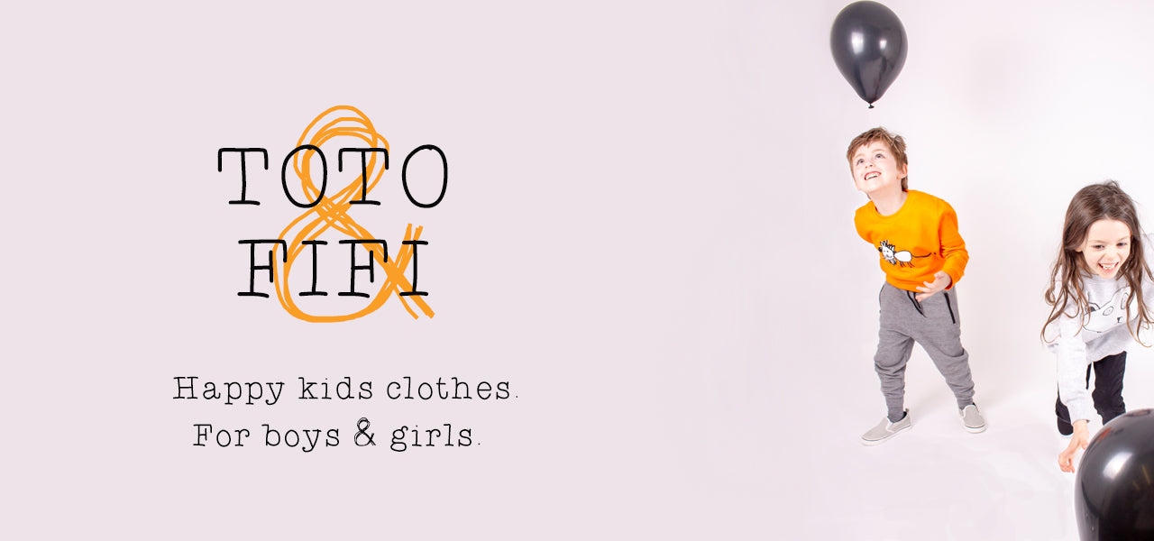 TOTO & FIFI - designed by kids for kids - unisex kids fashion - hand printed - childrens art - bespoke gifts