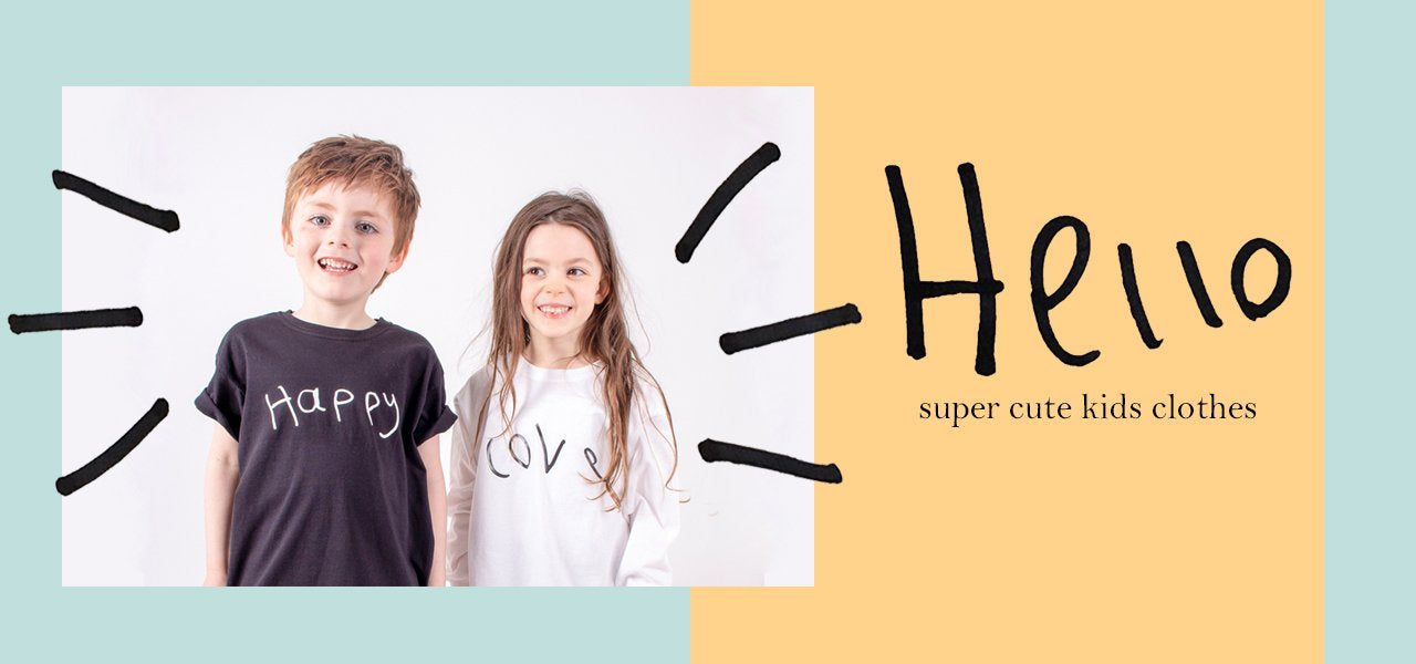TOTO & FIFI - unisex - gender neutral - hand printed - hand drawn - designed by kids