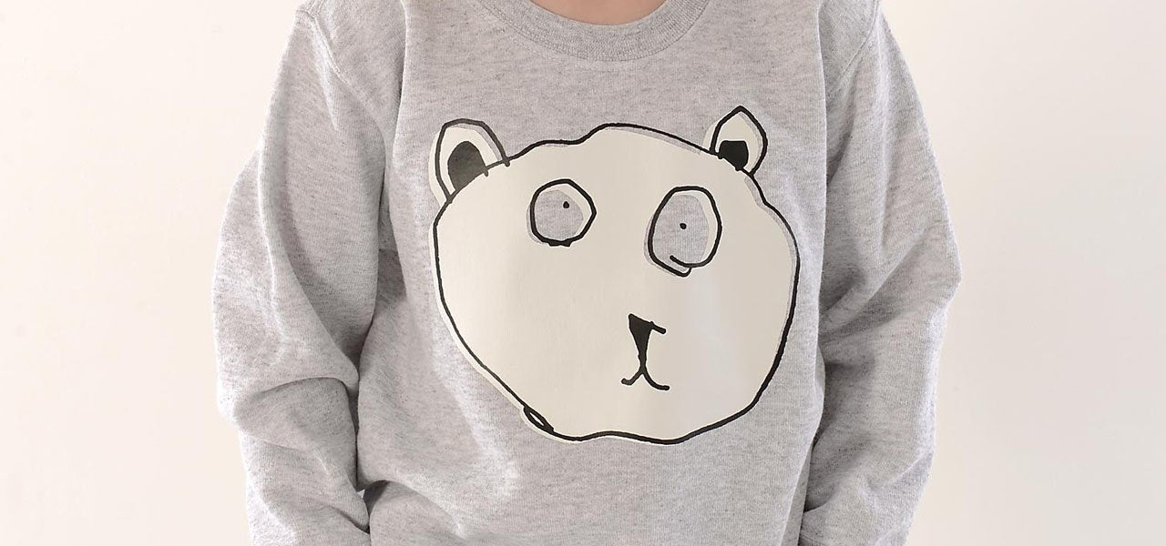 TOTO & FIFI - unisex kids sweater - hand printed - cute bear