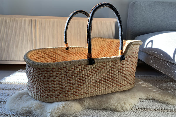 handwoven bassinet