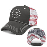 Marine Flag Back Mesh Hat