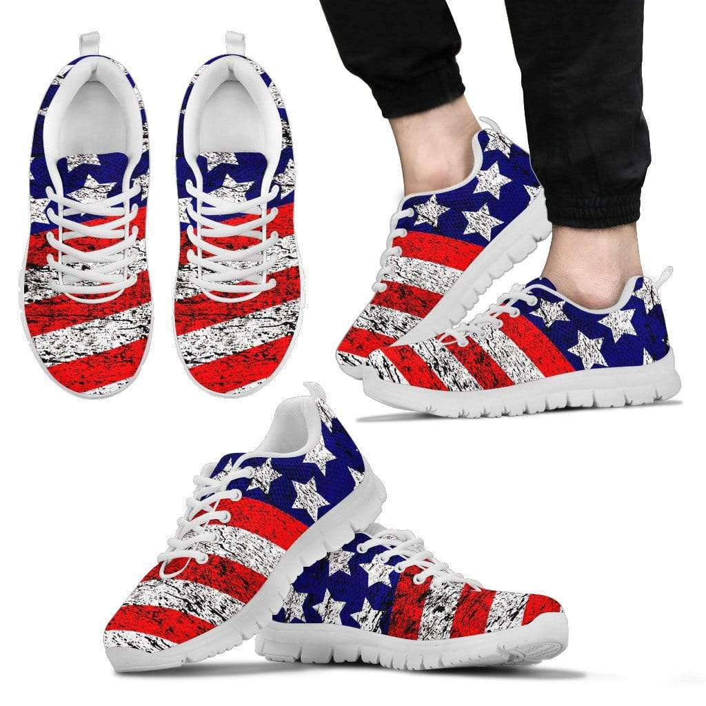 PrintedKicks American Pride Premium Mesh  Sneakers Men's Sneakers - White - Shoes / US5 (EU38)