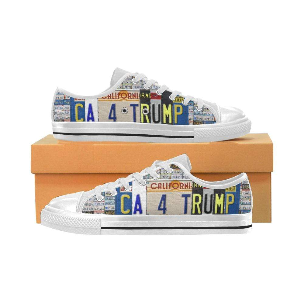 PrintedKicks California For Trump License Plate Low Tops