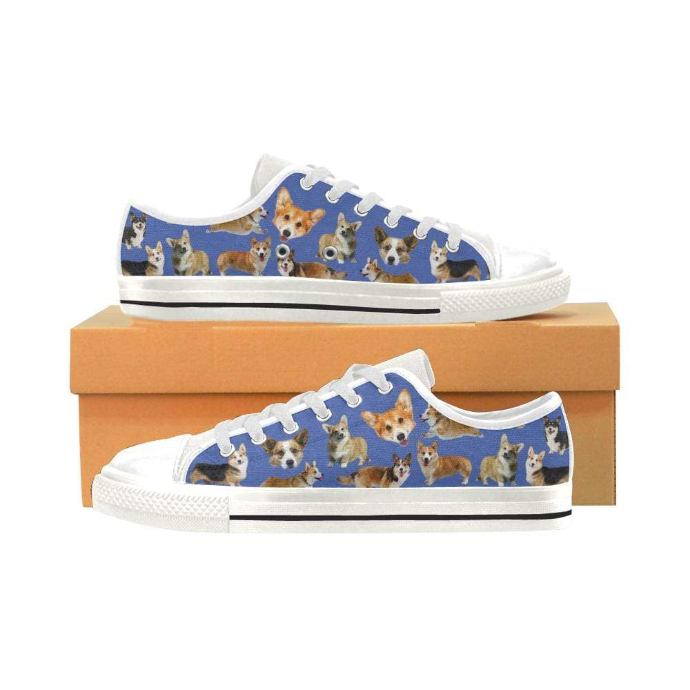 PrintedKicks Corgi Canvas Low Tops