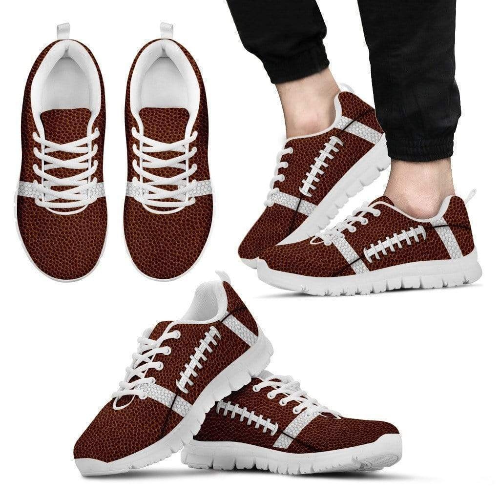 PrintedKicks Football Premium Mesh Sneakers Women's Sneakers - White - Shoes / US5 (EU35)