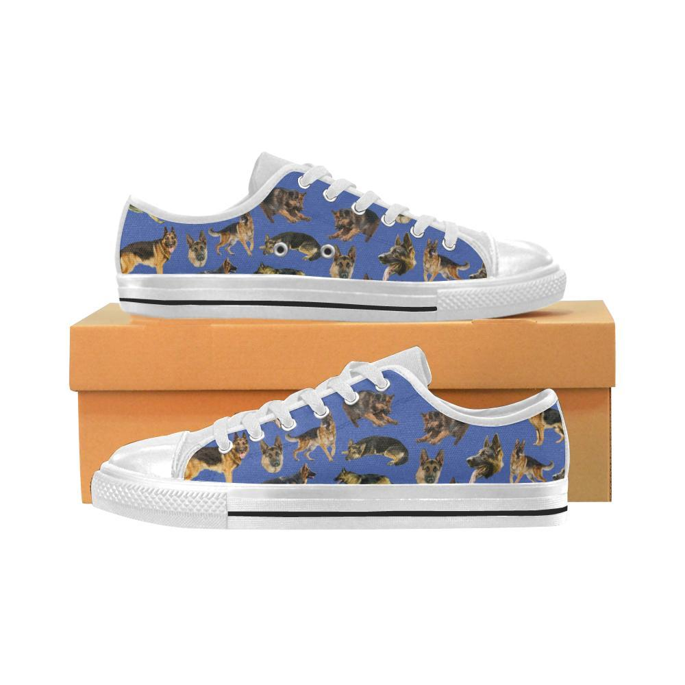 PrintedKicks German Shepherd Canvas Low Tops