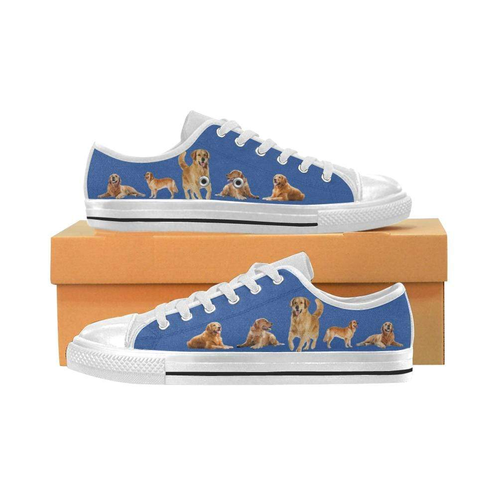 PrintedKicks Golden Retriever Canvas Low Tops